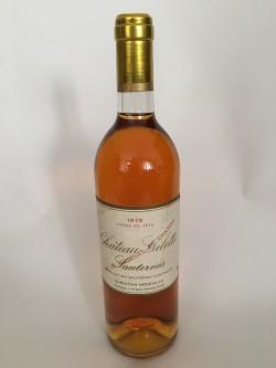 Château Gilette Crème de Tête 1975  Sauternes