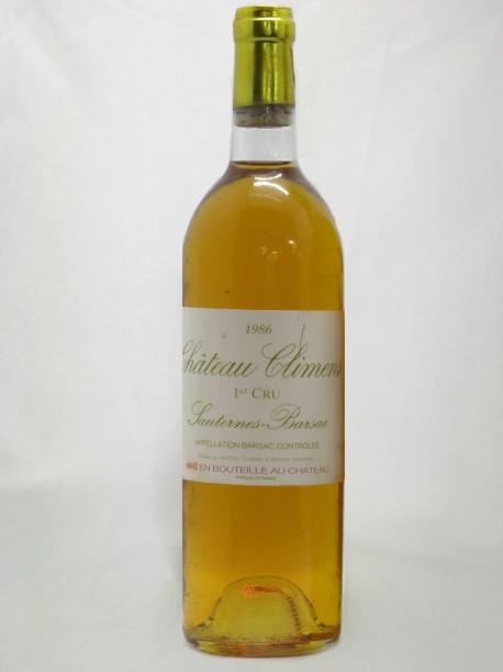Château Climens 1986 Premier Grand Cru Classé de Barsac